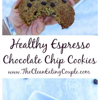 Healthy Espresso Chocolate Chip Cookies.