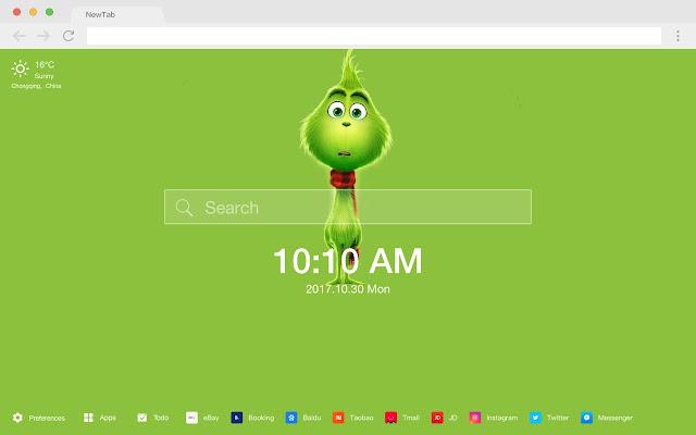 The Grinch pop movie HD new tab theme
