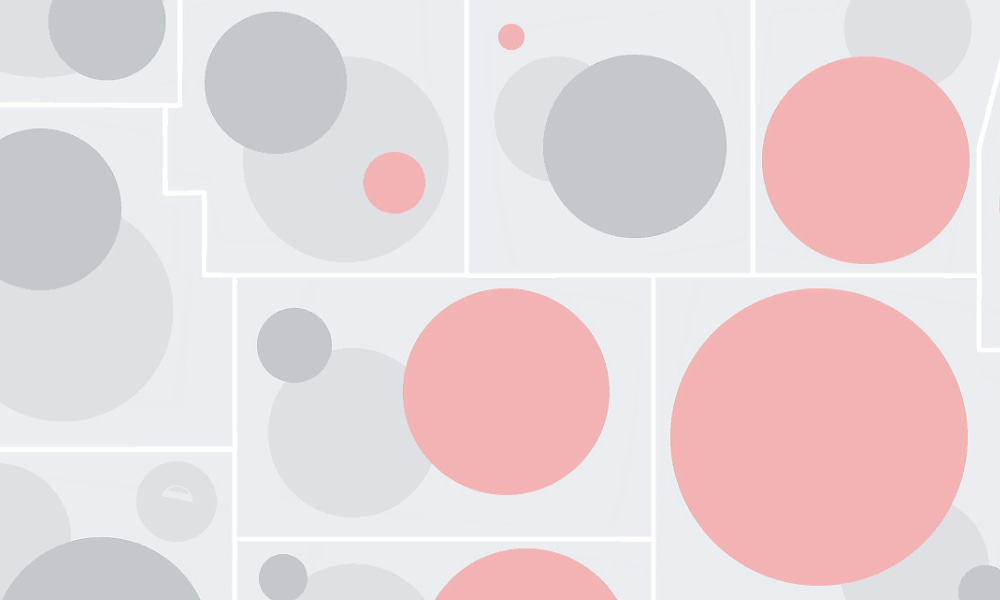Bubble map showing density