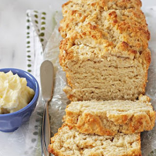 Buttery Honey Beer Bread with Honey Butter.