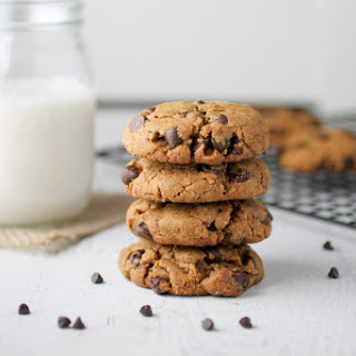Gluten Free Peanut Butter Chocolate Chip Cookies.