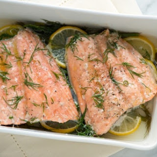 Mom's Baked Salmon Recipe with Lemon and Dill