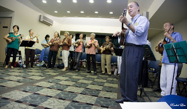 Photo: Brethrens singing their dedication song to Pastor beautifully