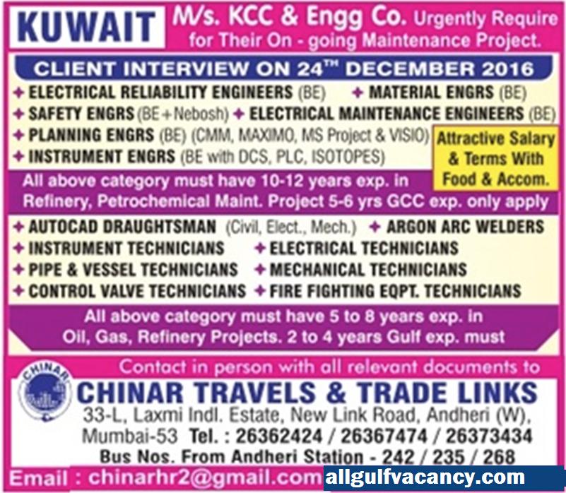 Direct Recruitment To Kuwait