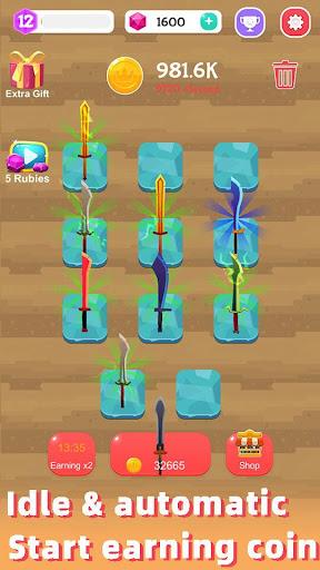 Merge Sword - Idle Blacksmith Master 1.3.4 screenshots 3