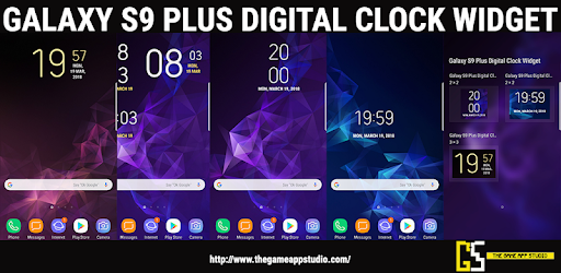 Galaxy S9 Plus Digital Clock Widget App - Apps on Google Play