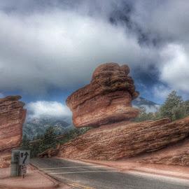 Balancing Rock by Manuel Castro - Landscapes Deserts