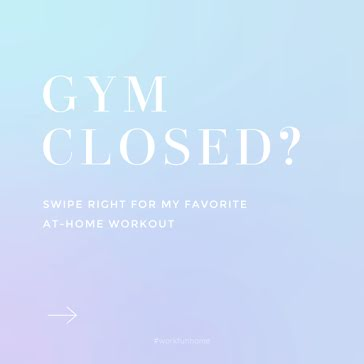 Gym Closed - Instagram Post Template