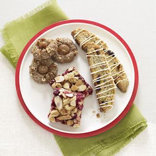Cherry-Pistachio Blue Corn Biscotti