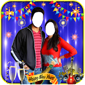 Happy New Year Couple Suit Hd