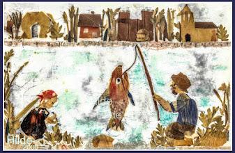 Photo: Angler und Mädchen am Dorfteich