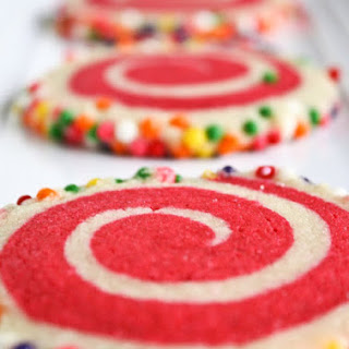 Colorful Spiral Cookies.