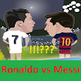 Differ of Ronaldo and Messi