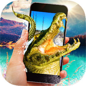 Crocodile in Phone Prank Icon
