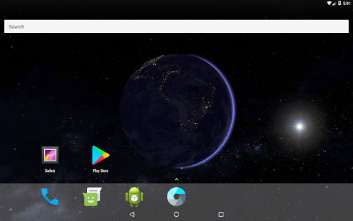 Earth 3D Live Wallpaper Apps für Android screenshot