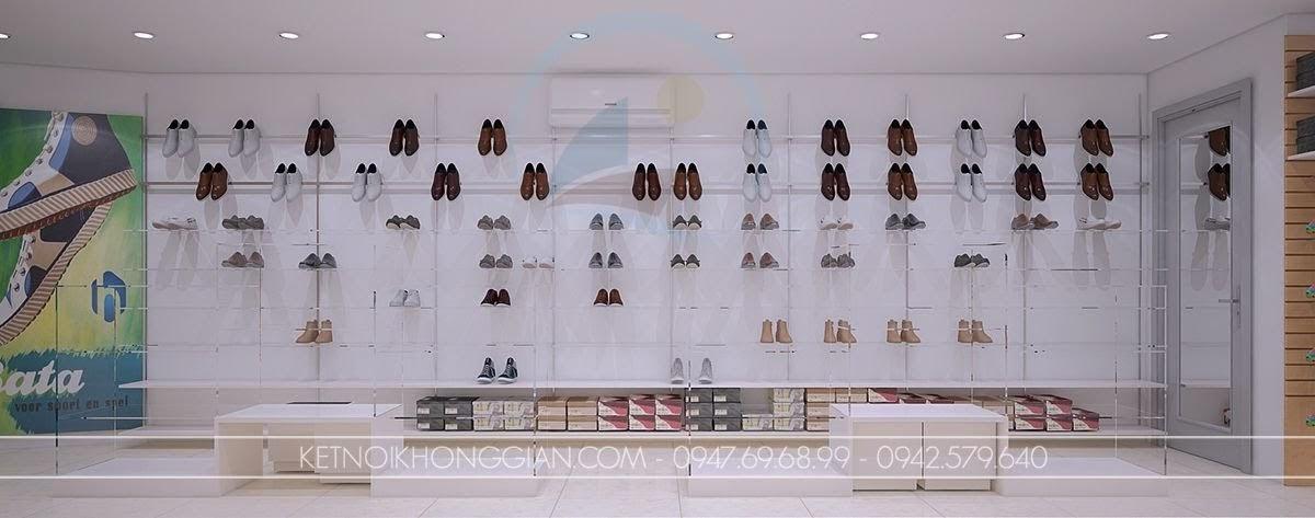 thiết kế shop giày dép thời trang sang trọng