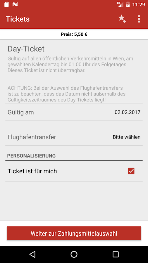Wiener Linien – Screenshot