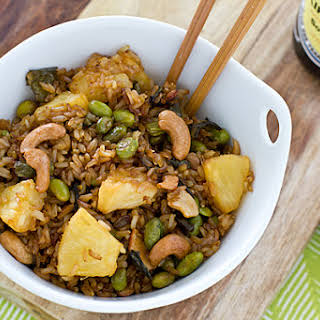 Baked Fried Brown Rice.
