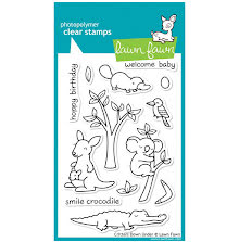 Lawn Fawn Clear Stamps 4X6 - Critters Down Under