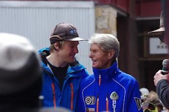 Photo: Former world champion Stein Eriksen congratulates Ted on his spectacular season. Tag PhotoAdd LocationEdit