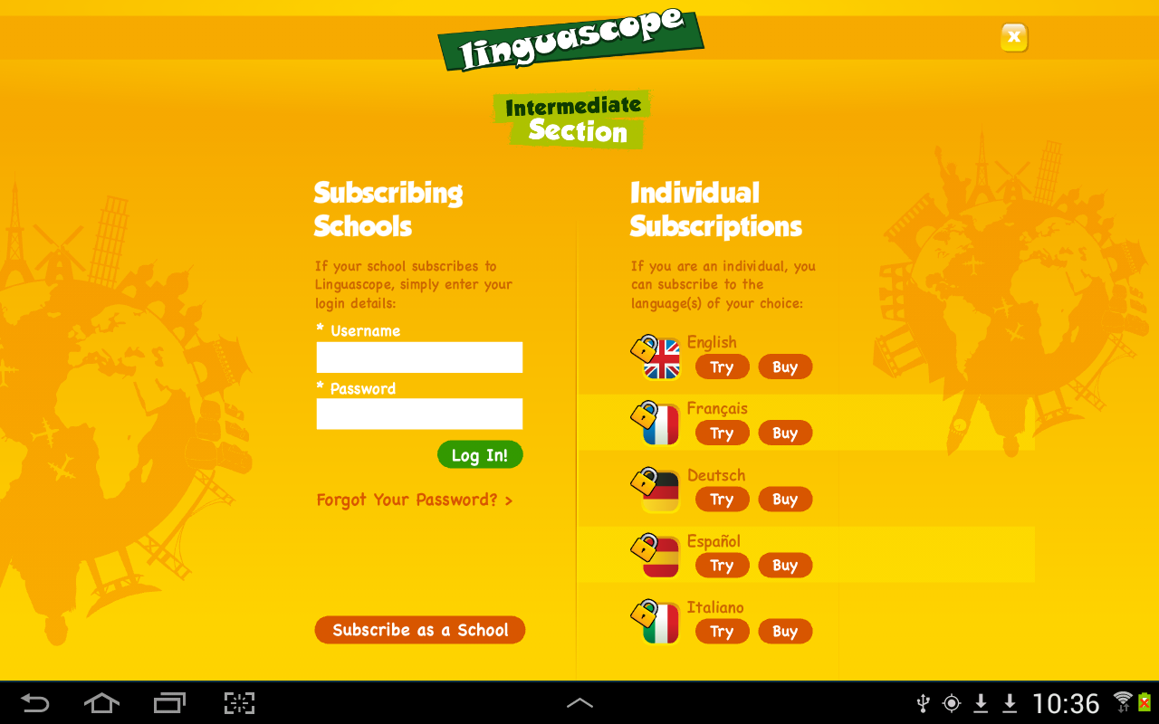 Linguascope Intermediate- screenshot