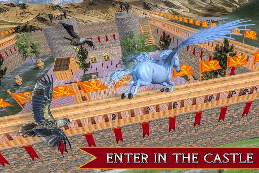Flying Unicorn Horse Family Jungle Survival 4.0 screenshots 6