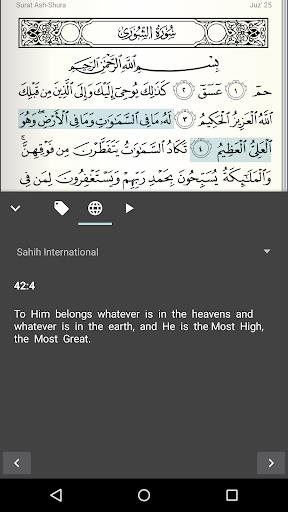 Quran for Android screenshot 5