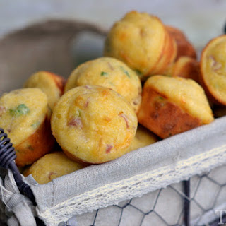 Ham and Cheese Mini Corn Muffins Recipe