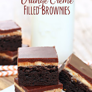 Orange Creme Filled Brownies
