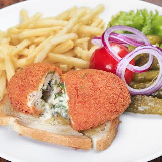 Air Fryer Chicken Kiev Supper