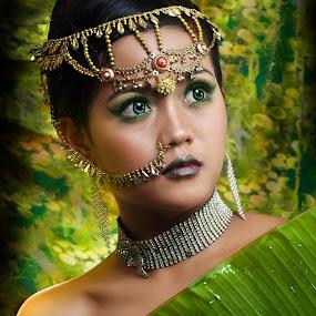 Hindi women by Jovi Photograph - People Portraits of Women