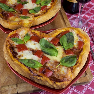 Heart Shaped Pizza with Chorizo Recipe