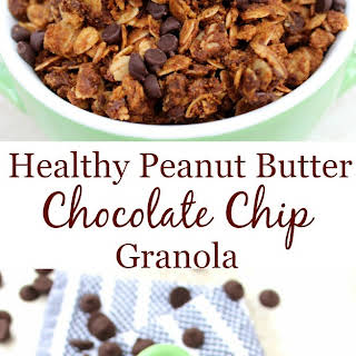 Healthy Peanut Butter Chocolate Chip Granola.