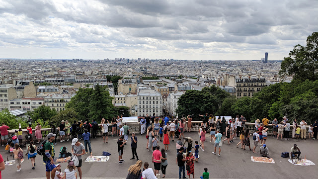 views from the Sacre-Ceour in Paris, Paris - Ile-de-France, France