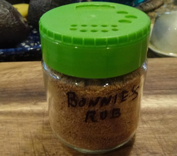 First, make the rub.  Mix all the ingredients in a small mixing bowl...