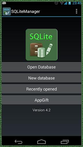 SQLite Game App Data manage