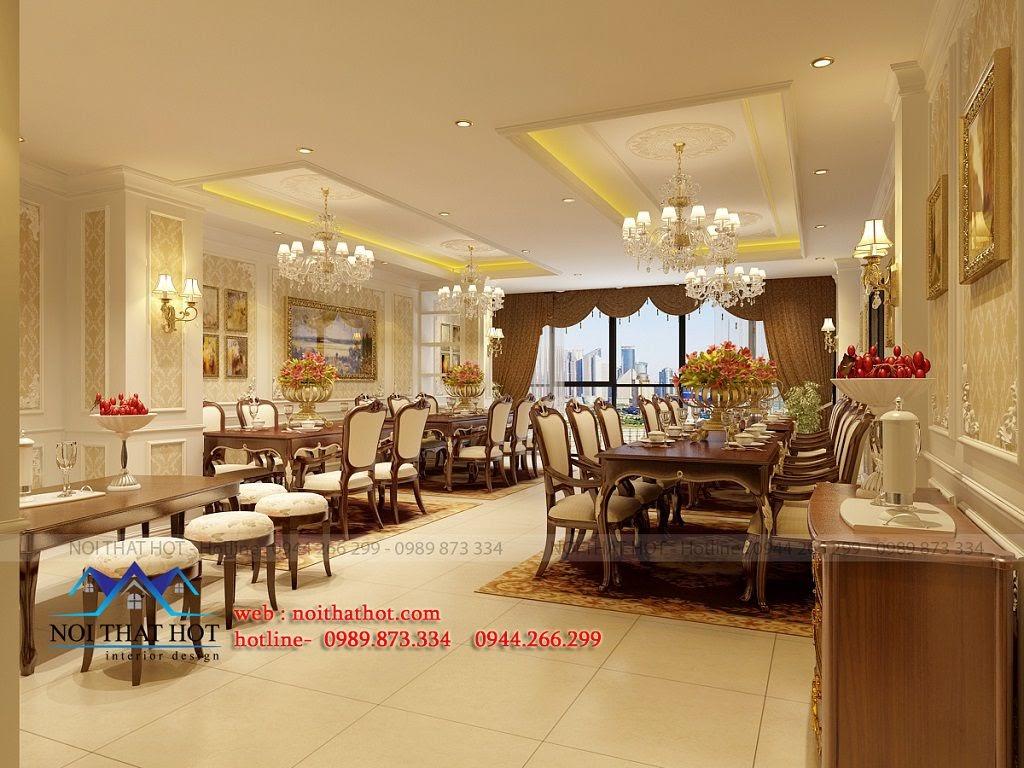 thiết kế nội thất nhà hàng ấn tượng kiểu phương tây