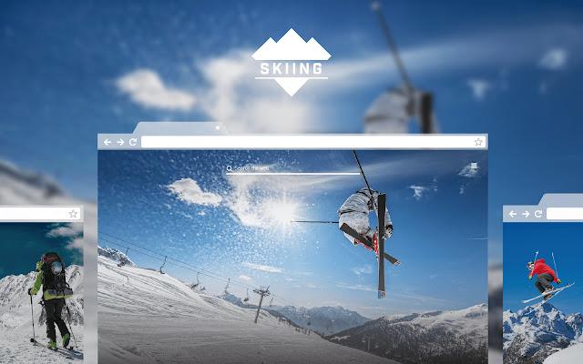 Skiing New Tab