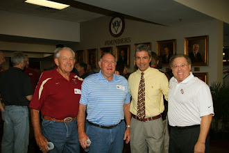 Photo: A reunion for the 1986-1989 football teams in the Varsity Club the night before the Wake Forest game.
