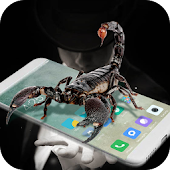 Scorpion in phone prank