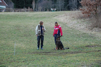 Photo: Kari er dommer for Varg og Aina