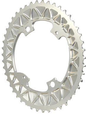 Absolute Black Premium Oval Subcompact Road Outer Chainring, 4x110BCD alternate image 1