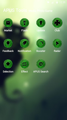 Turquoise-APUS Launcher theme - screenshot