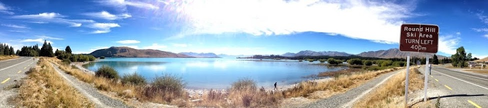 Nowa Zelandia, jezioro Taupo, panorama