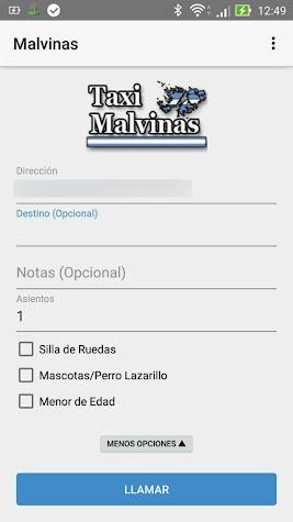 Malvinas Taxi Mar del Plata Screenshot