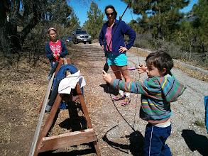 Photo: Clark Learns Archery