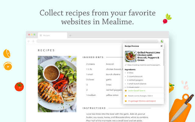 Mealime Recipe Collector