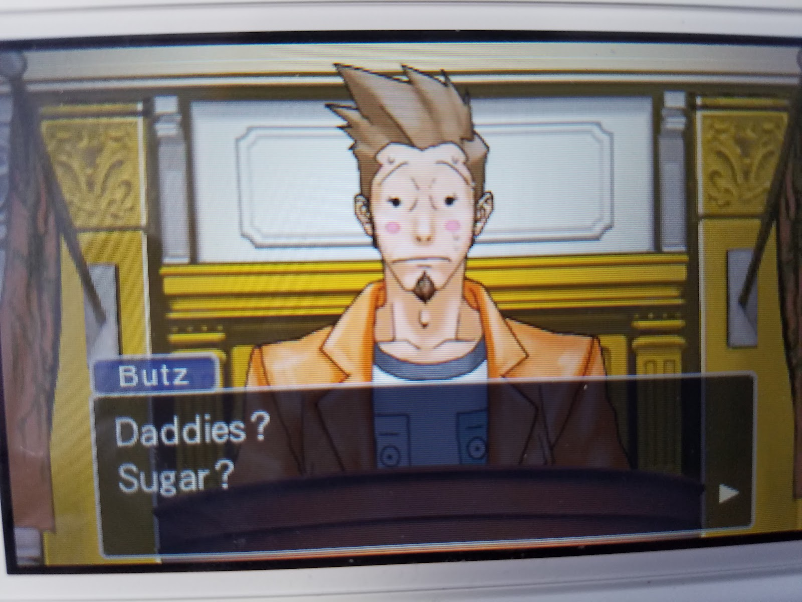 Phoenix Wright Ace Attorney Larry Butz sugar daddies