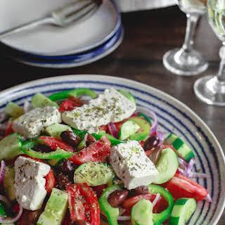 Traditional Greek Salad.