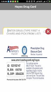 Hayes Drug Card - náhled